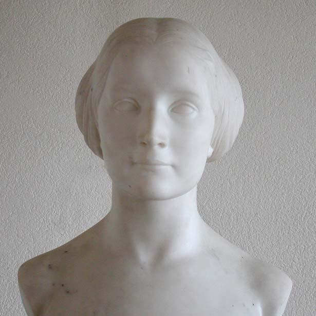 Originalbüste der Mathilde Wesendonck aus Marmor aus dem Wagnermuseum Luzern